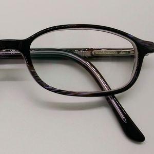 Valentino Eyeglass Frames Brown Marble